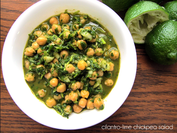 lime cilantro chickpea salad recipe
